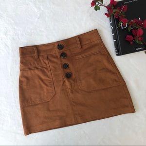 ZaraTRF Faux Suede Mini Skirt
